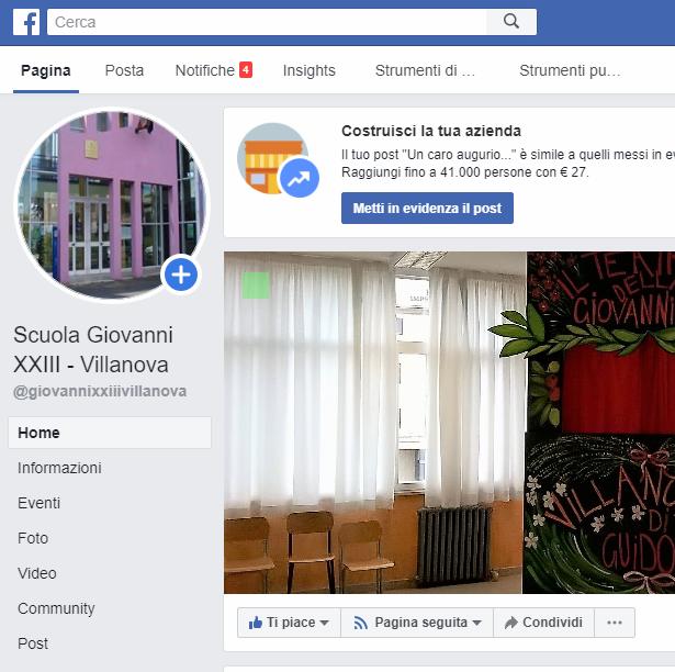 Metti un like alla pagina Facebook della scuola!